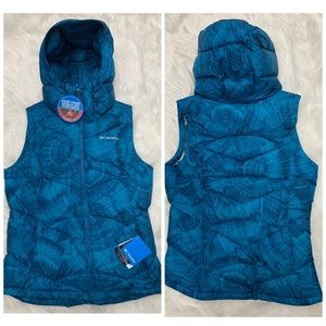 {Columbia} Omni Heat Hooded Puffy Zip Up Vest